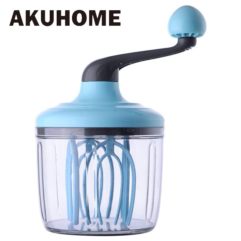 Mano manivela crema batidor para huevos herramientas para hornear licuadora crema Stiring de mezclador batidor de huevo pasta utensilios domésticos de cocina