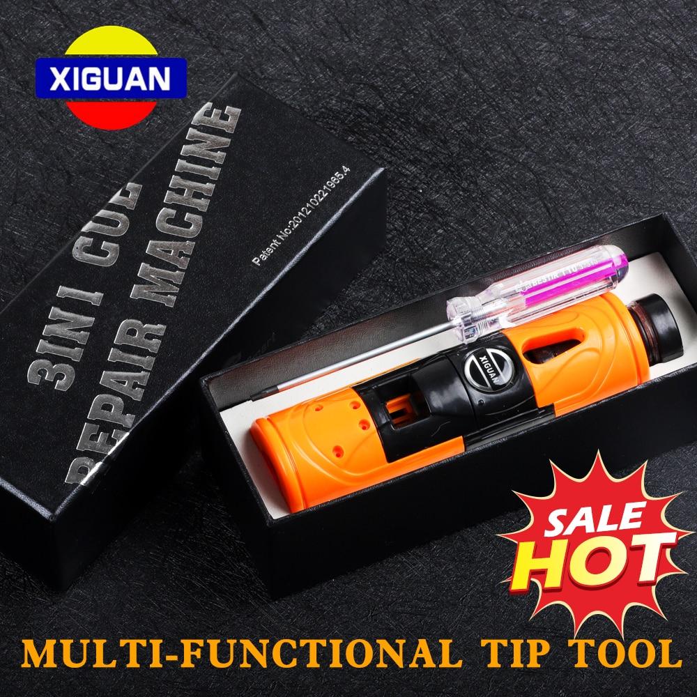 XIGUAN Billiard Training Tool Multi-functional Tip Repair Tool Trimmer+Side cutting+Ferrule cutting Double-sided Blade Accessory