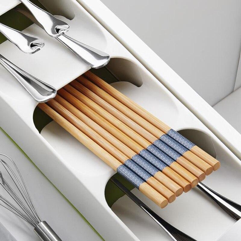 Кухонный лоток для хранения столовых приборов, кухонный держатель для ножей, органайзер, Кухонный Контейнер, хранилище для ложки, вилки, разделительный держатель для ножей-1