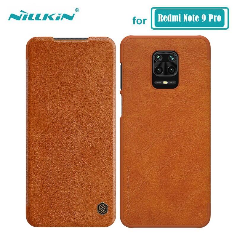 Funda Nillkin para Xiaomi Redmi Note 9 Pro Max Qin Series, Funda de cuero de PU para Xiaomi Redmi Note 9S