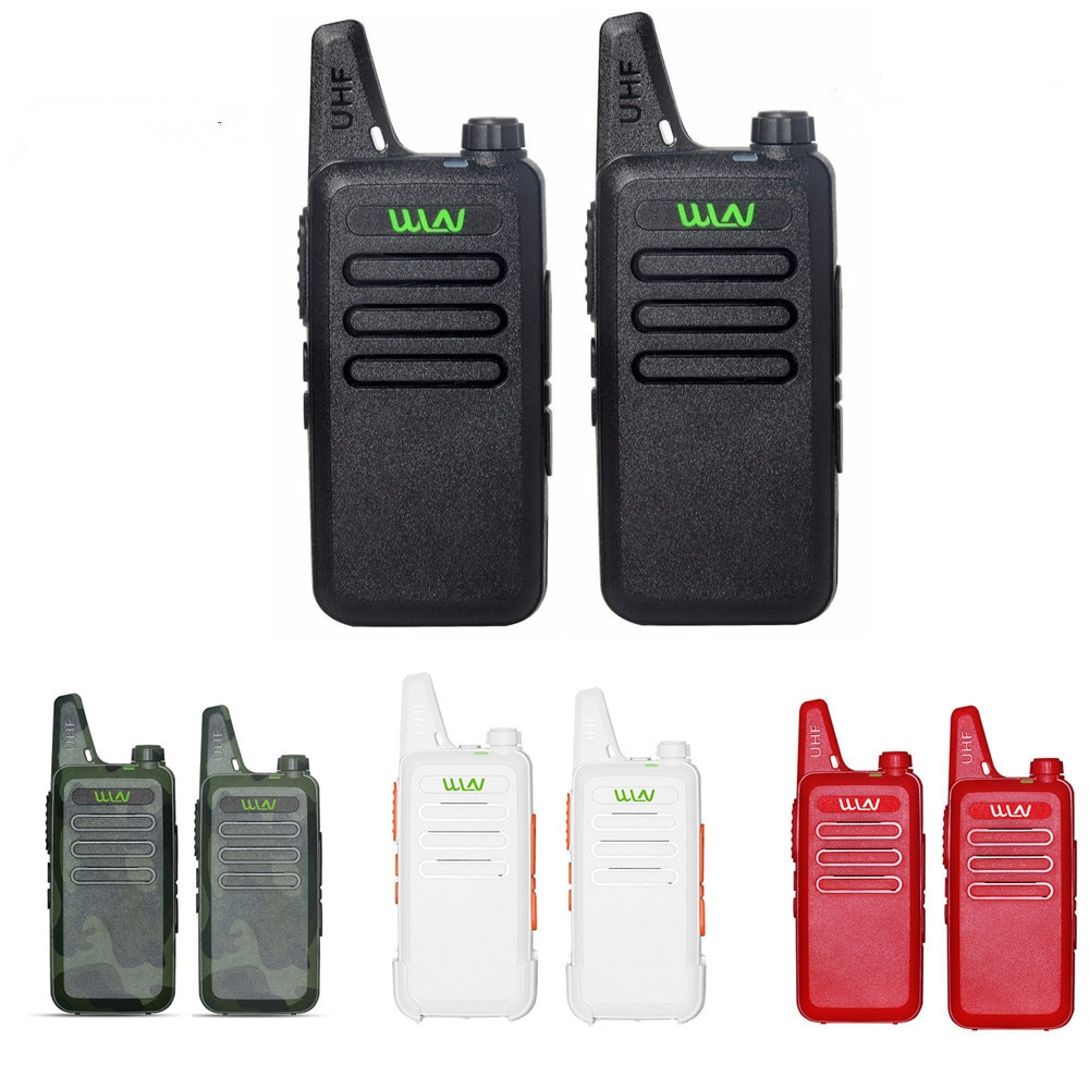 2pcs WLN KD-C1 MINI Handheld Transceiver KD C1 Two Way Radio Ham Communicator Radio Station Mi-Ni Walkie Talkie