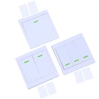 433mhz 86 wall panel wireless remote control switch transmitter 1 2 3 button rf receiver for bedroom ceiling light lamp