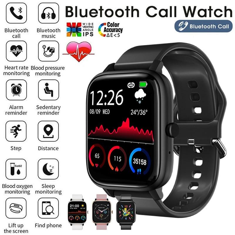 2021 Bluetooth Call Smart Watch Heart Rate Pedometer Waterproof Men Women Watches Camera And Music F