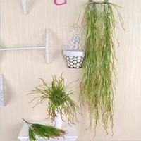 4pcslot 1 2m artificial hanging plants rattan antler leaf vine plastic vine hanging wall wedding decoration home fake grass