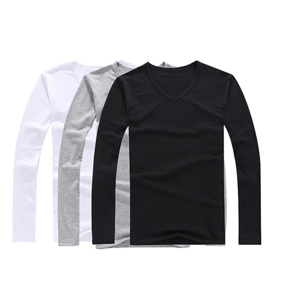 50% gran oferta de la moda de los hombres camiseta Slim encaja...