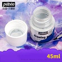 Pebeo ensemble liquide de blanchiment pour peinture, aquarelle solide, aquarelle, liquide de blanchiment spécial, aquarelle moyenne
