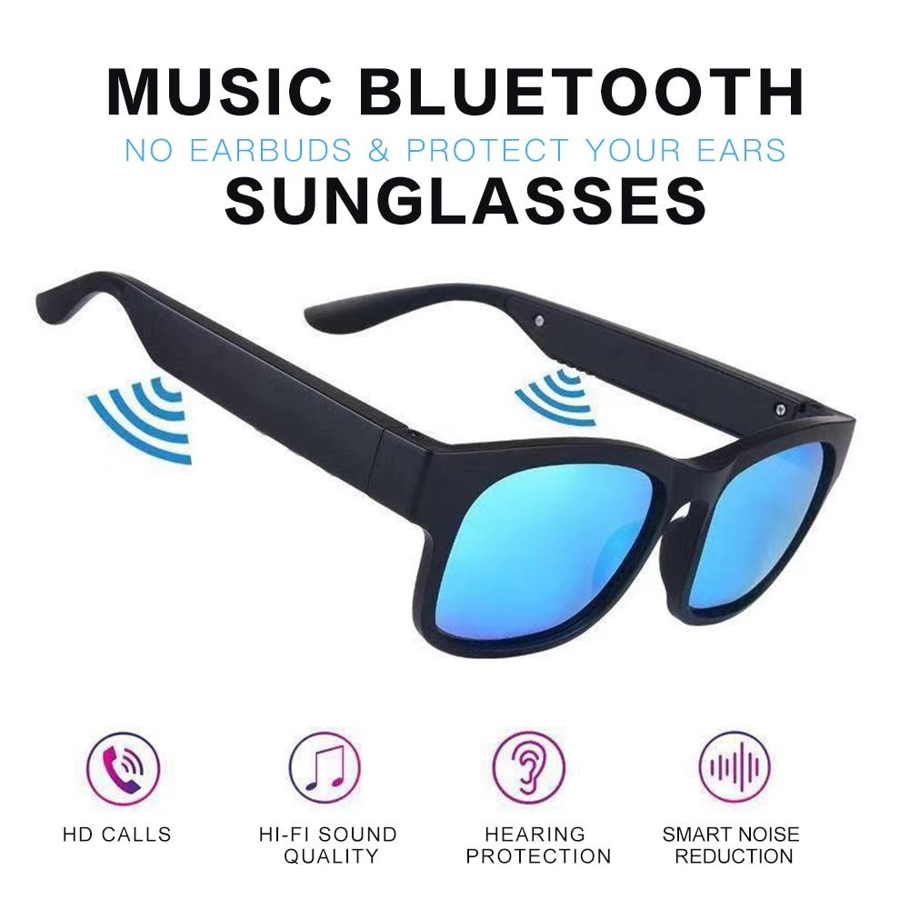 UV400 Smart Glasses Wireless Bluetooth Hands-Free Calling Audio Open Ear Anti-blue Light Lenses IPX7