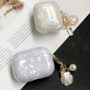 Luxury Pearl Shell Glossy Case for Apple Airpods 1 2 3 Case for AirPods Pro Case Bluetooth Earphone Accessories Headphone Box