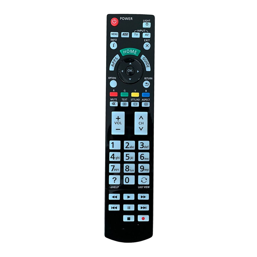 Controle remoto apto para panasonic TX-L47ETW50 TX-P50VT50 TX-P50VT50E TX-P55ST50Y TH-65AX900A TX-P65VT50Y led viera hdtv tv