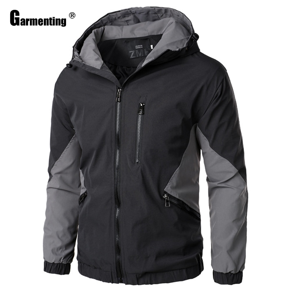 Garmenting 2021 Демисезонный худи топы мужские легкие куртки Windcoats, из кусков, мужские, для улицы, Тонкие Повседневная Верхняя одежда с капюшоном дл...