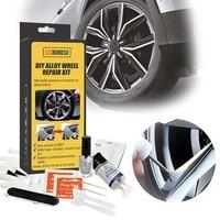 dropship aluminum alloy car wheel repair kit washable auto wheel rim repair tool set garage dent scratch restore alloy wheel rim