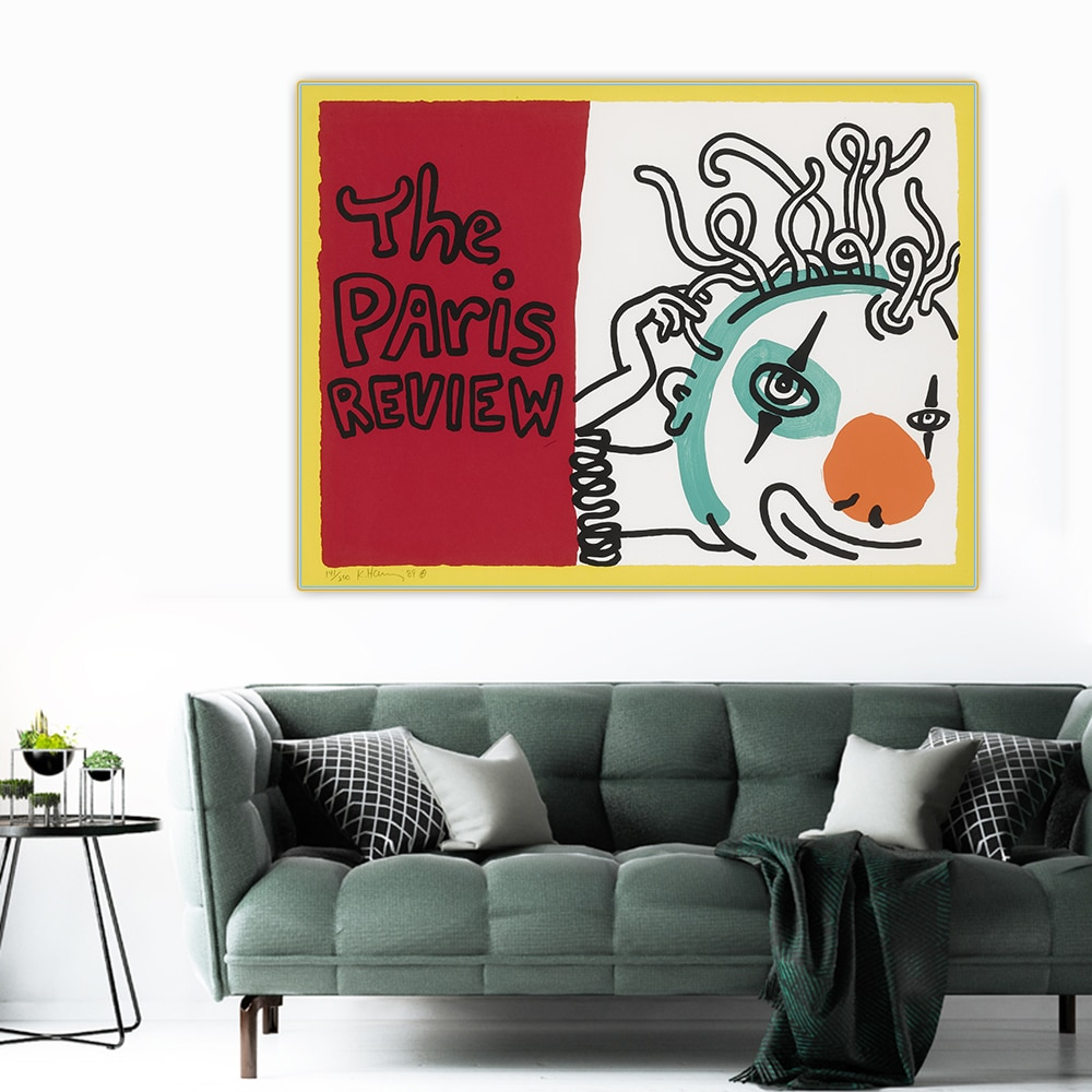 "Holover Abstrakte Graffiti Leinwand Öl Malerei Keith Haring ""1989THE PARIS BEWERTUNGEN"" Pop kunst Poster Kunstwerk Ästhetische Wohnkultur"
