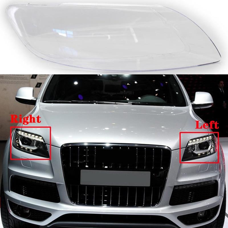 Налобный фонарь для Audi Q7 2006-2015, передний автомобильный налобный фонарь, абажур, налобный фонарь, налобный фонарь, крышки, стеклянный корпус д...