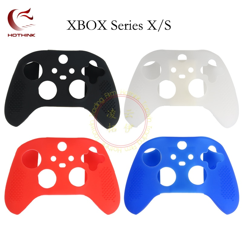 HOTHINK 4 colors Silicone Cover for Microsoft Xbox Series X S New edition Controller Studded Protective Case Skin 1pcs