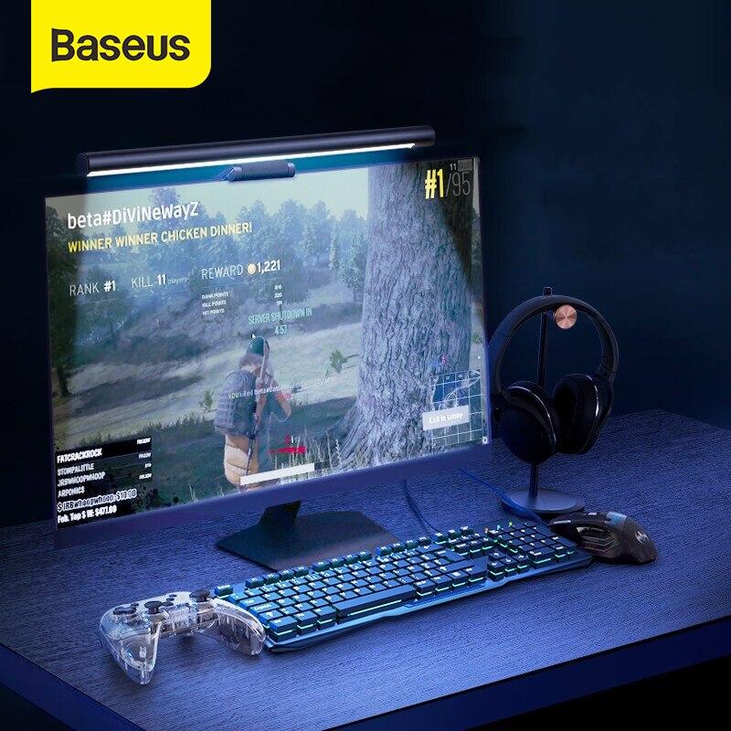 Baseus ستبليس يعتم العين الرعاية الصمام مكتب مصباح ل الكمبيوتر PC مراقب شاشة شنقا ضوء برو LED القراءة USB بالطاقة مصباح