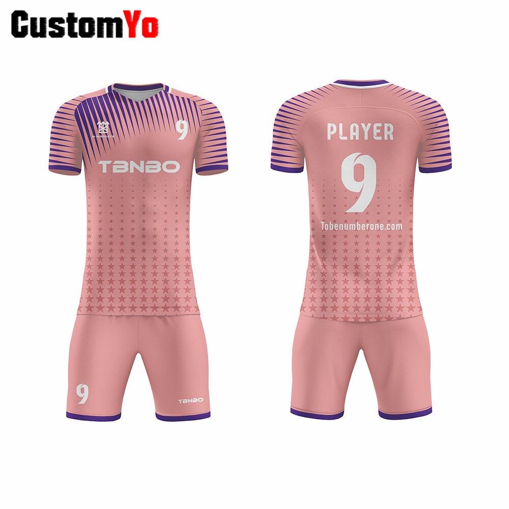 Akzeptieren Paypal Zahlung Angepasst Fußball Trikots Rosa Fußball Shirts