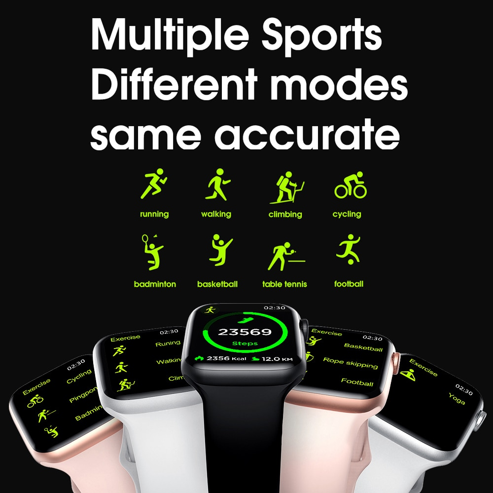5pcs W26+ Smart Watch 1.75inch Full Touch Screen Bluetooth Call Sports Mode Women Men Smartwatch Watch 5 44mm PK W34 F10 W26