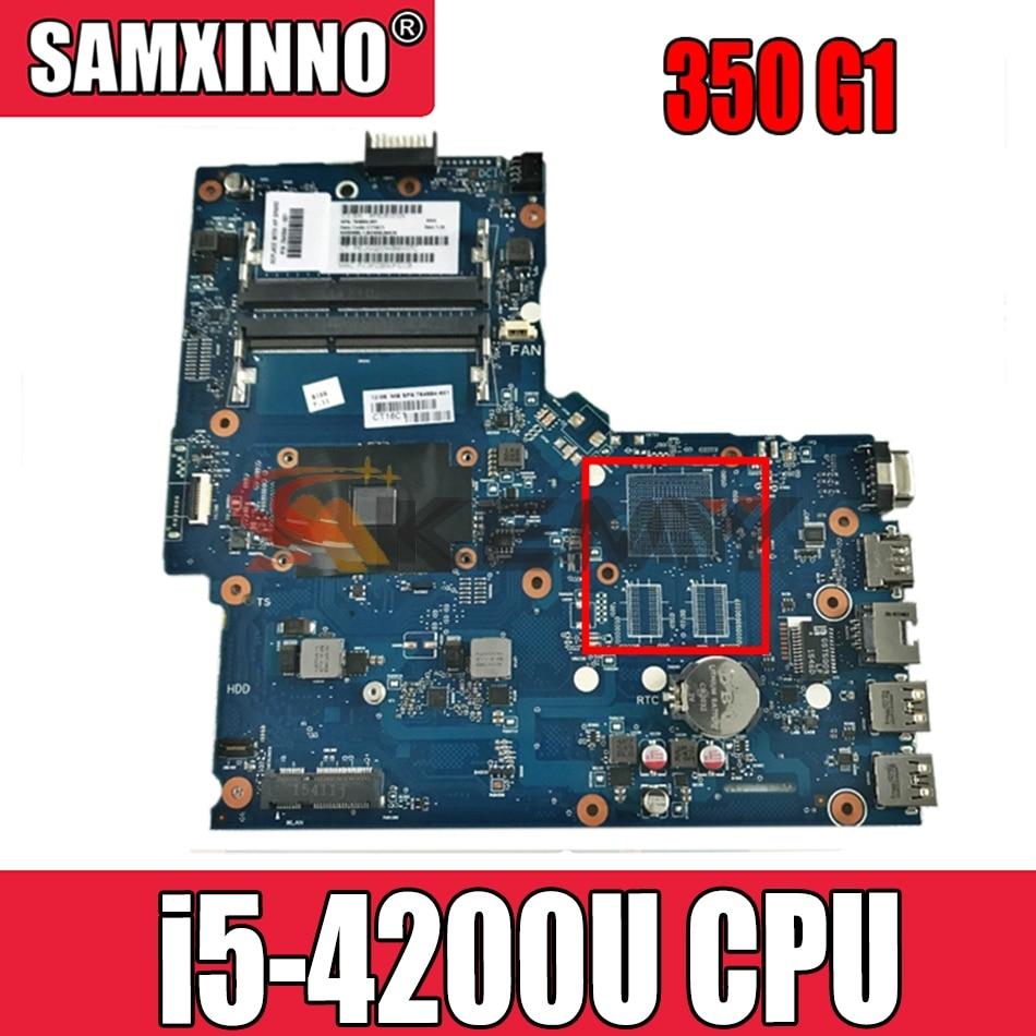 AKemy758029-001 ل HP Probook 350 G1 اللوحة المحمول SR170 i5-4200U CPU SNOWI10-6050A2608301-MB-A05 758029-601