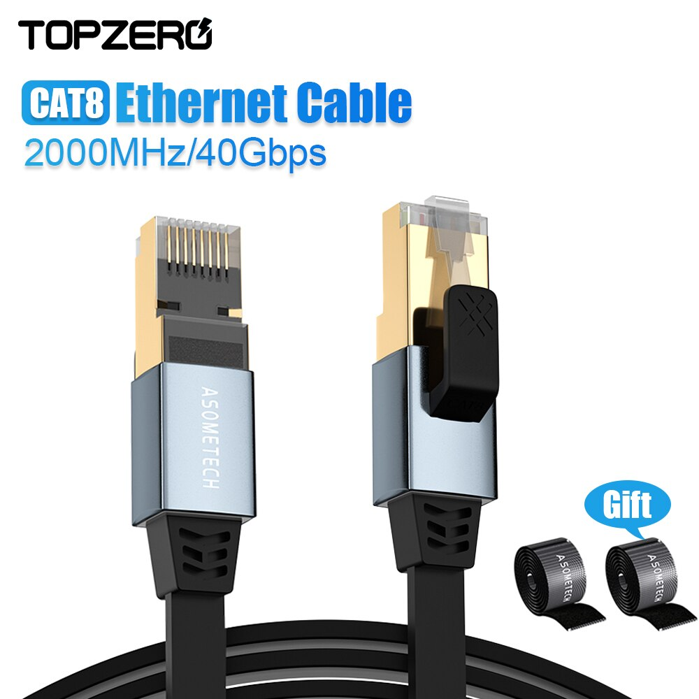 CAT8 Ethernet Cable RJ 45 SSTP 40Gbps 2000MHz Cable de red RJ45...