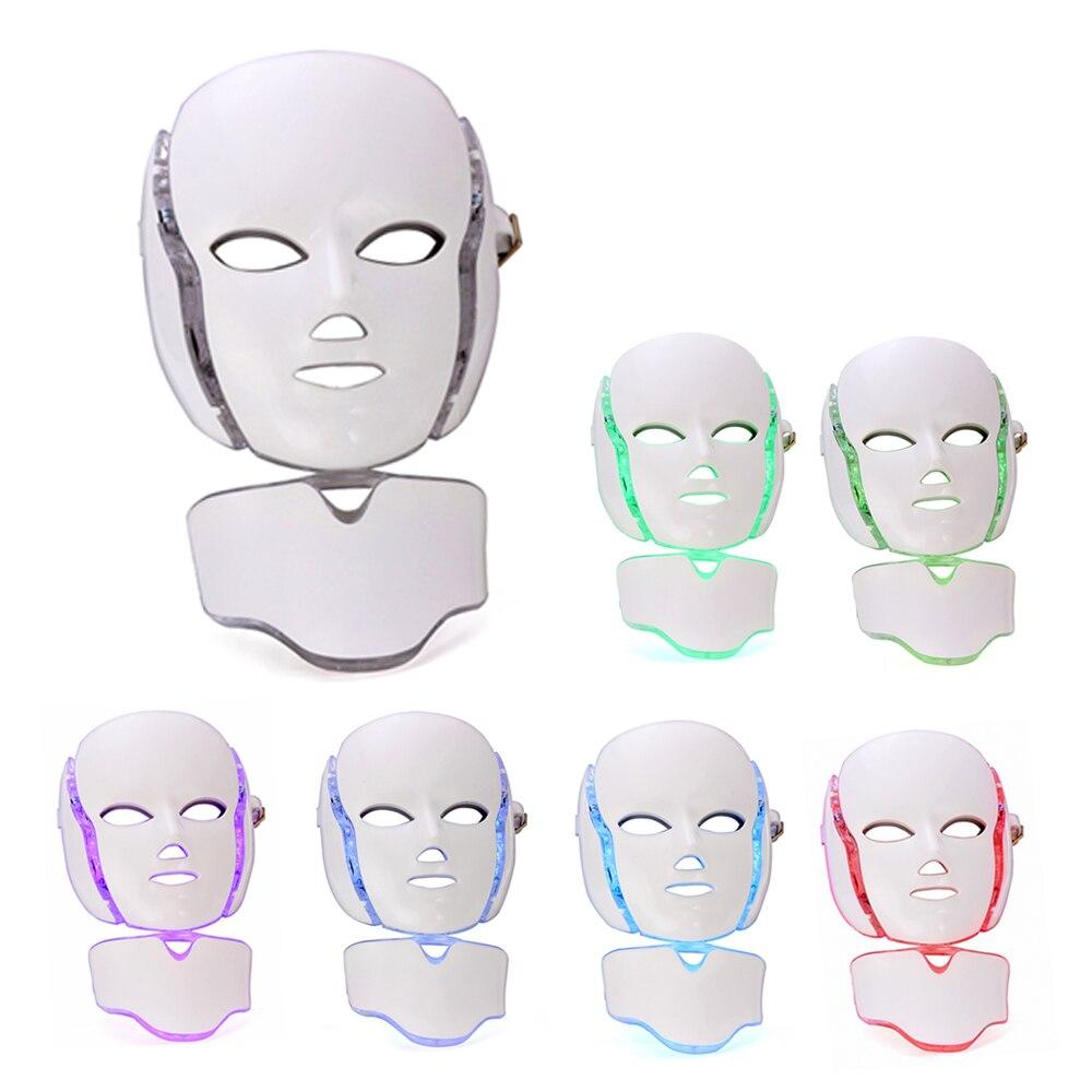 Led قناع 7 ألوان Led قناع الوجه الفوتون علاج للوجه قناع العلاج بالضوء تجديد الجلد العلاج التجاعيد حب الشباب تشديد الجلد أيضا