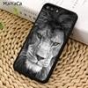 MaiYaCa león macho alfa gato grande Sof funda de teléfono para iPhone 5 S 6 S 7 8 plus 11 Pro X XR XS Max Samsung Galaxy S6 S7 S8 S9 S10 plus
