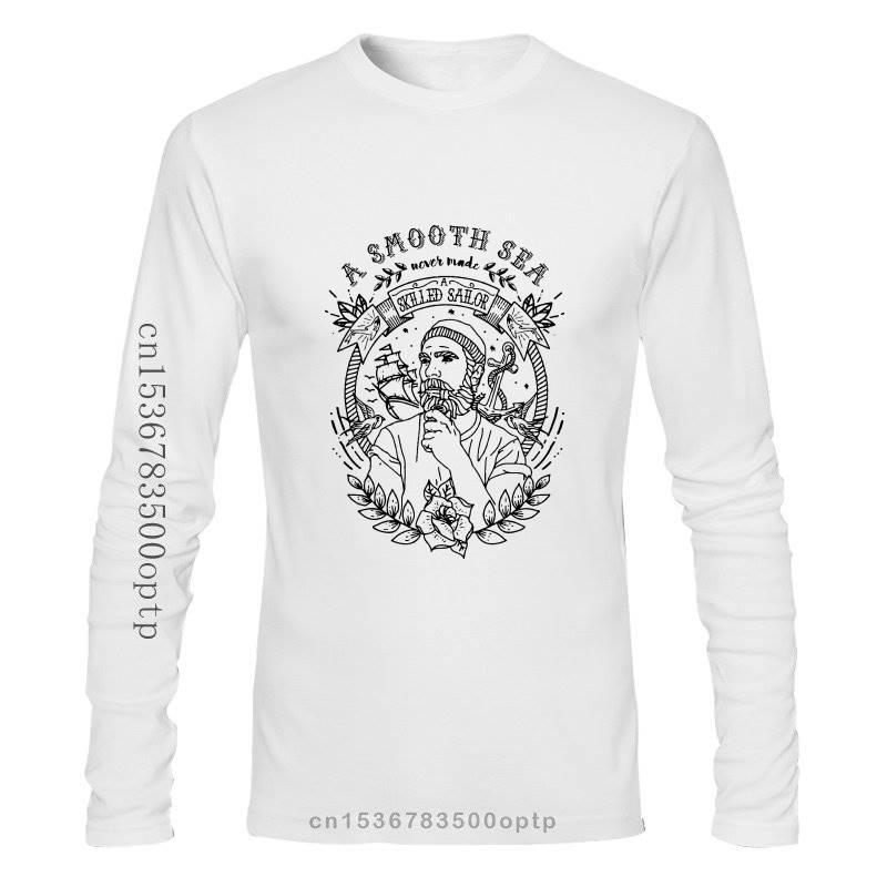 Nueva moda 2021 Camiseta Ancla De Marinero capitán Pirata Seeman Oldschool Talla...