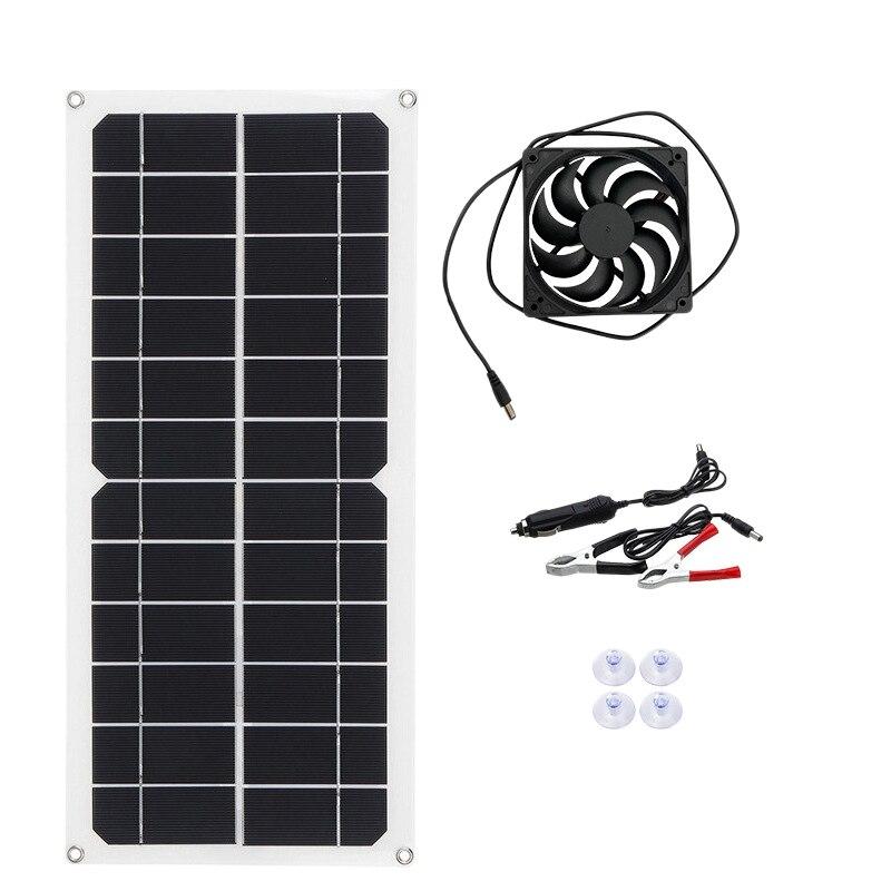 12 فولت 10 واط المحمولة مروحة العادم الشمسية عدة مروحة العادم مدعوم من لوحة طاقة شمسية ل RV الدفيئة بيت الحيوانات الأليفة قفص الدجاج