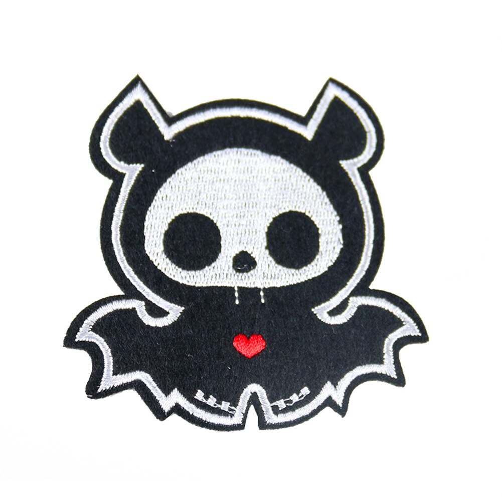 Adorável americano halloween demônio ferro em remendos bordado apliques para jaqueta roupas adesivos emblema diy acessórios de vestuário