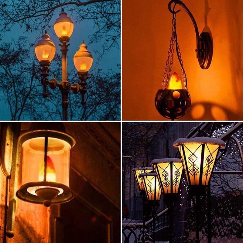 Bombilla de llama, candelabro LED, lámpara de bulbos para Festival/Hotel/decoración de Halloween
