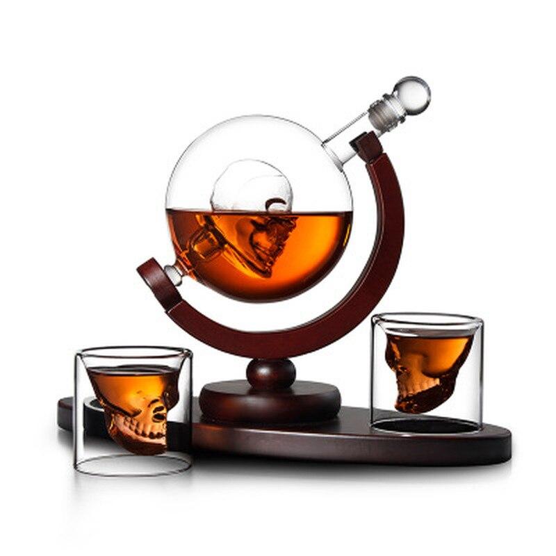Whiskey Decanter Wine Separator Antique Ship Mini Globe Shape Frosted Glass Bottle Beer Drinking Dispenser Barware Supplies