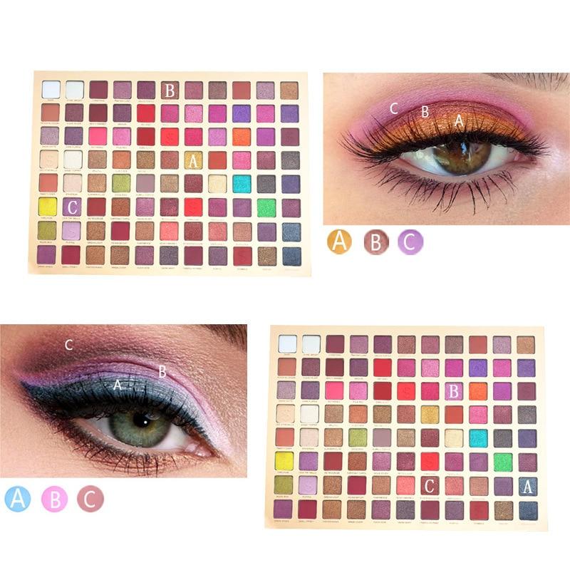 88 cor completa matte paleta de maquiagem sombra de olho pallete cosméticos compõem shimmer sombra natural à prova dwaterproof água