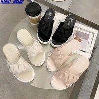 2021 caimo new spring and summer one foot set of all match casual sandals womens shoes size 35 40 wholesale korean shoes