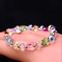 new creative cute rainbow color butterfly crystal bracelet fashion hand strap for women girls lovers jewelry party daily gifts