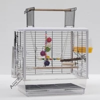 473547 5 61cm bird cages openable cage top acrylic transparent ornamental bird cage 473547 5 61cm hwc