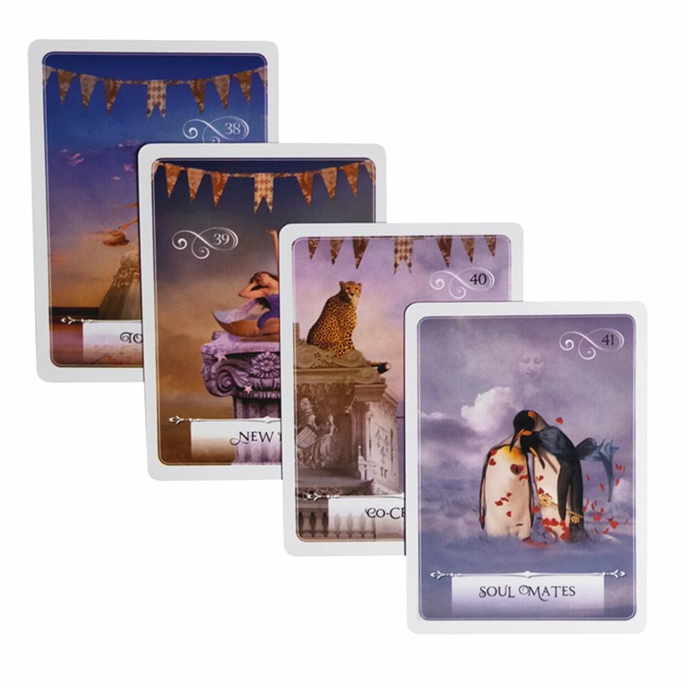 52 tarjetas Wisdom Oracle versión completa en inglés de Smart Tarot partido familiar Tarot juego oráculo Wisdom Card Full inglés Tarot