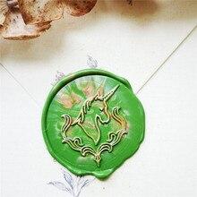Horse unicorn seal wax stamp head of Retro Wood Stamp Sealing Wax Seal Stamp Wedding Decorative sealing Stamp wax seals