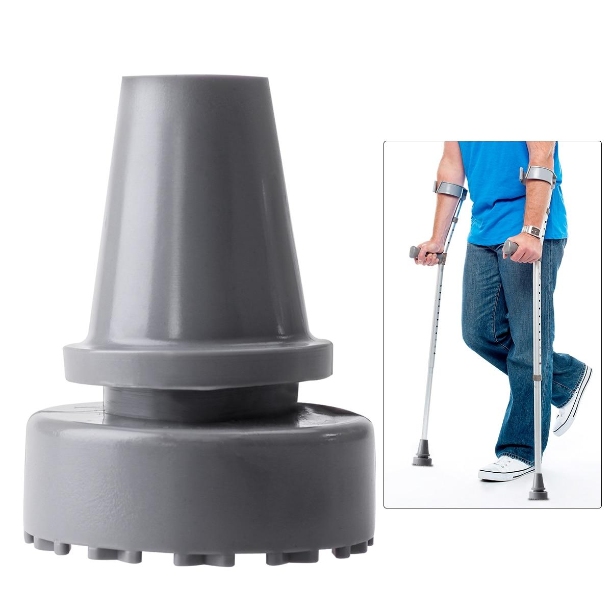 ROSENICE 19mm Inner Diameter Rubber Head Crutch Accessories Antislip Tips Walking Stick Feet (Grey)