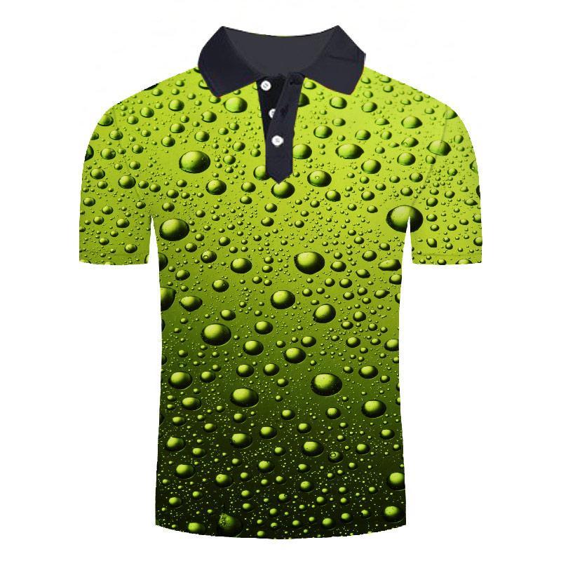 Polo de manga corta para hombre y camisetas 3D con estampado de...