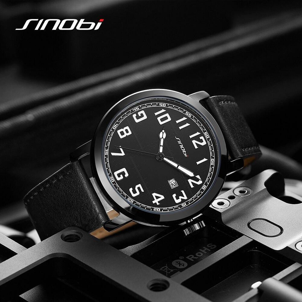 SINOBI Relogio Maculino Fashion Business Men's Watches Casual Auto Date Men Watch Waterproof Male Watch Mens Clock Reloj Hombre