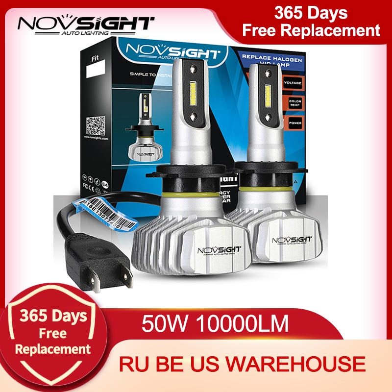 aliexpress.com - NOVSIGHT Car Headlight H4 Hi/Lo Beam LED H7 H1 H3 H8 H9 H11 H13 9005 9006 9007 50W 10000lm 6500K Auto Headlamp Fog Light Bulbs