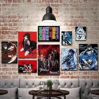 WTQ     peinture sur toile une piece  affiche retro Akame Ga KILL  decor mural  tableau dart mural pour decoration de salon  decoration de maison
