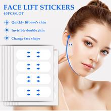 40PCS Efficient face-lifting Waterproof V Face Makeup Adhesive Tape Invisible Breathable Lift Face S