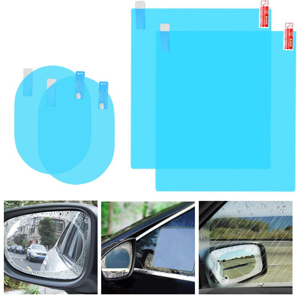 Car Rearview Mirror Film Protective Waterproof Anti Fog Auto Window Clear Soft Film Suit for Bathroo