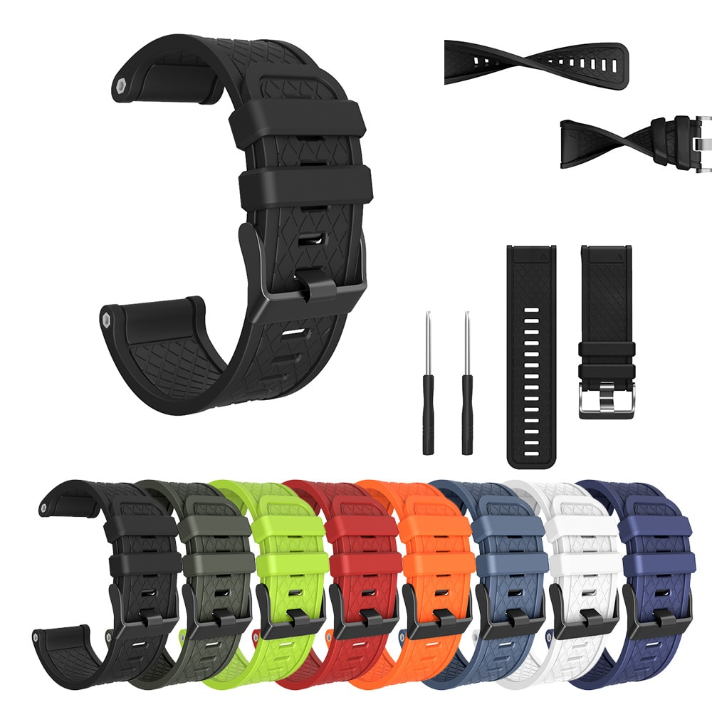 top selling product in 2020 for Garmin Fenix/Fenix 2 Band Easy Fit 26mm Width Soft Silicone Watch St