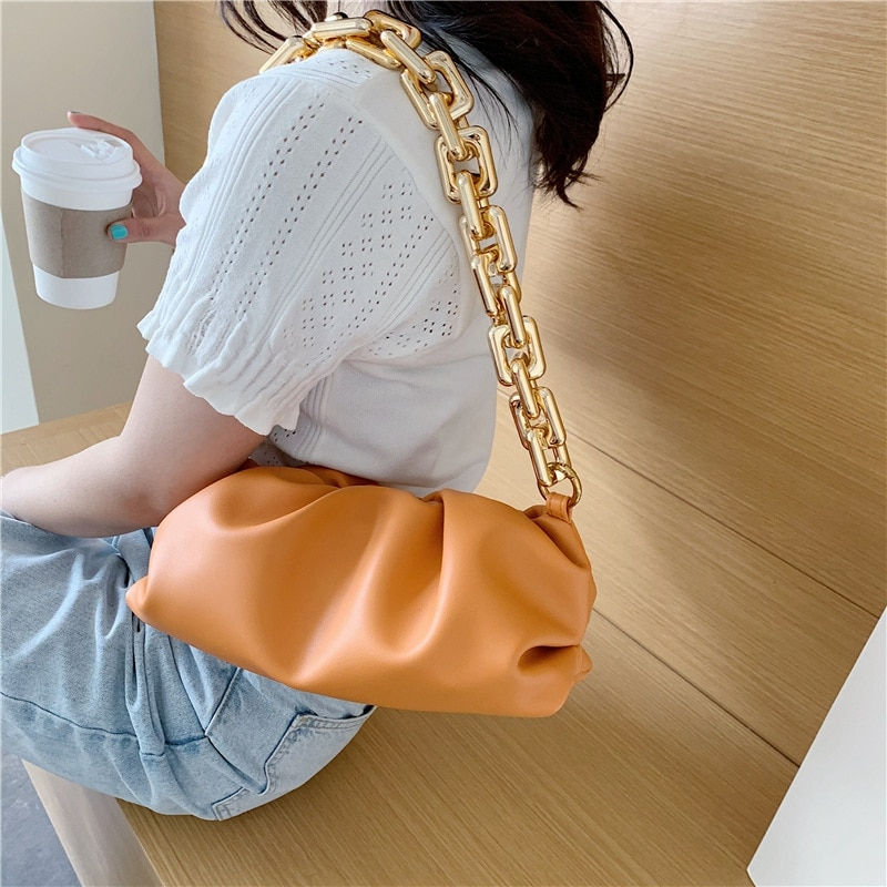 Tote Bag 2020 Summer Shoulder Bags For Women Soft PU Leather Underarm Female Clutch High Quality Girls Pouch Luxury Designer Bag