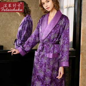 22 momme Thicken 100% genuine silk Dressing gown women nightgowns Noble sexy robe women elegance pure mulberry silk robes S5657