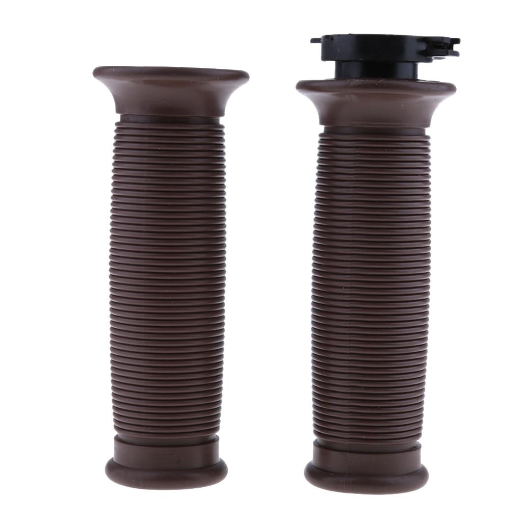 Empuñaduras de manillar de goma para motocicleta, mango de empuje de extremo de barra de 7/8 pulgadas 22mm para cafe racer (café)