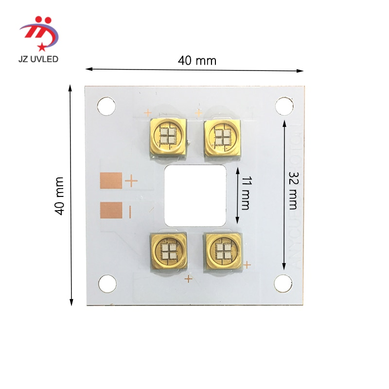 40W UV Module for 3D photosensitive resin printer UV gel curing lights Ultraviolet light ink the cure 365nm 405nm lamp beads