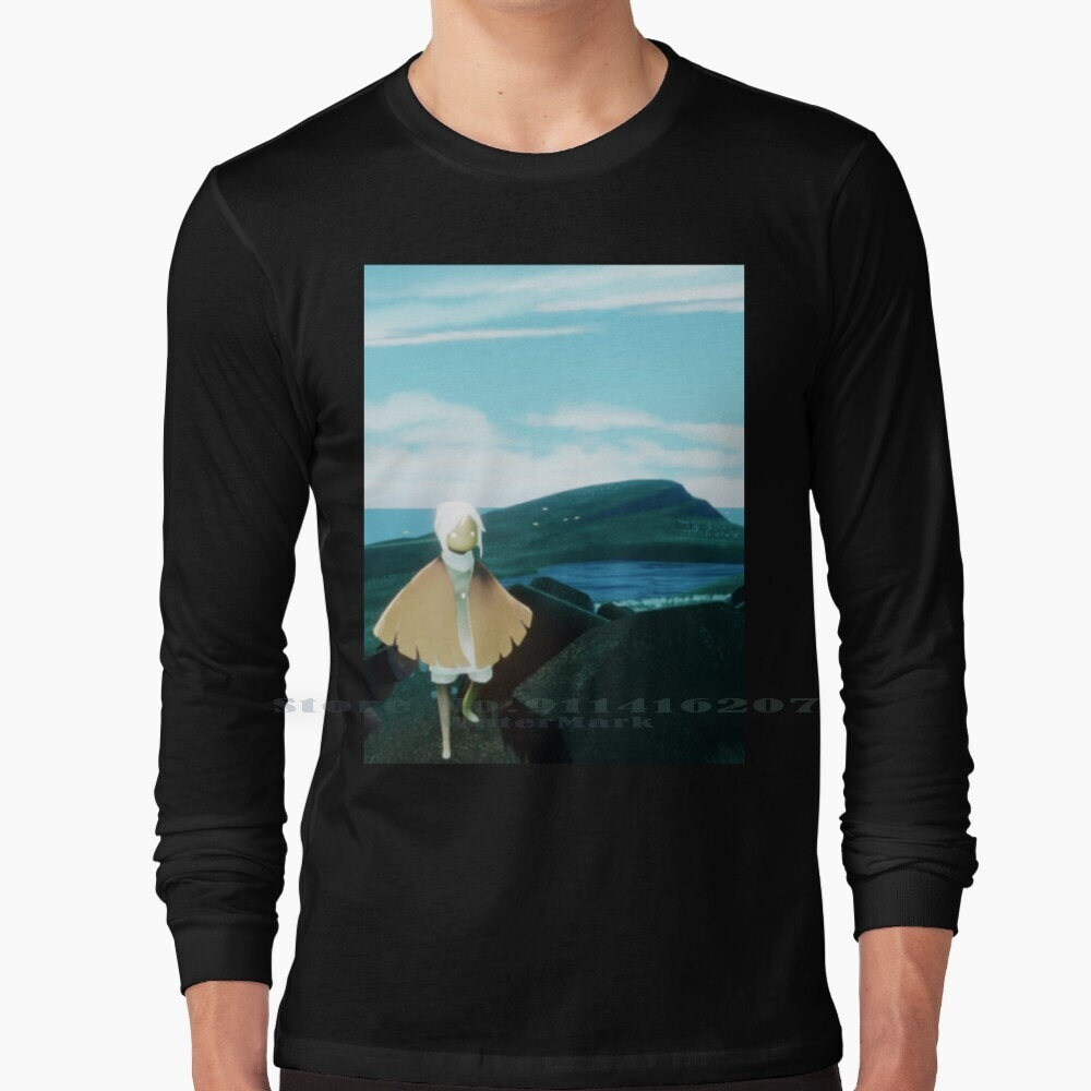 Sky Isle Of Dawn T Shirt 100% Pure Cotton Sky Sky Game Sky Children Of The Light That Game Company Nature Clouds Beautiful