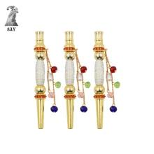 SY nouveau 1pc mode narguilé à la main incrusté bijoux alliage narguilé bouche conseils Shisha Chicha narguilé fumer accessoires